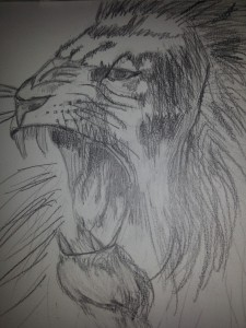Rugissant dans Peinture - Dessins lion2-e1355424226792-225x300
