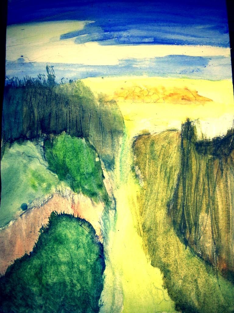 Au bord de l'or dans Peinture - Dessins ali