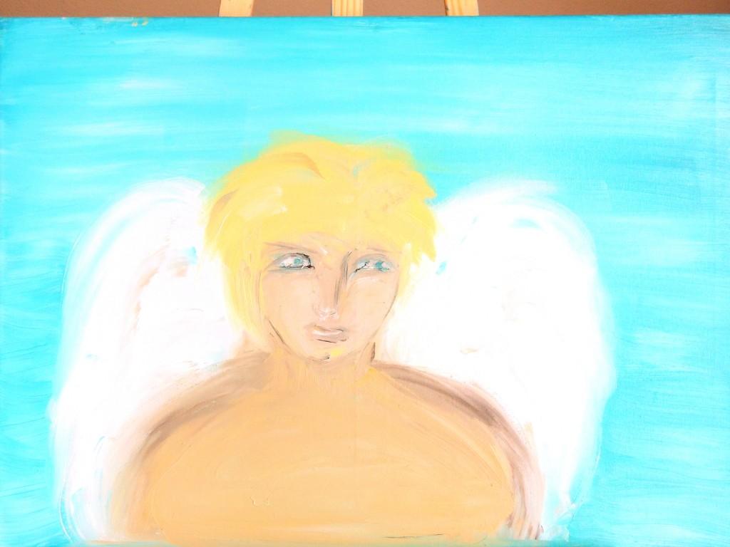 Ange en cours dans Peinture - Dessins anges