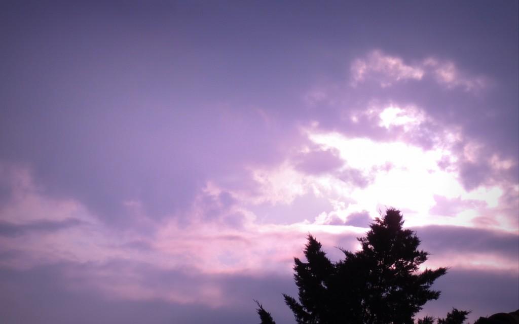 Timide soleil ce matin dans Ciel aube